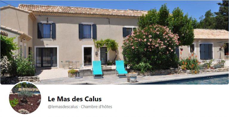 Capture du Facebook du Mas des calus